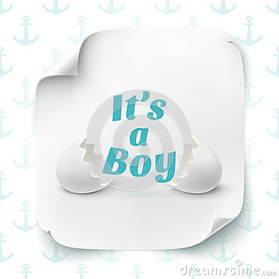 Its A Boy Template For Baby Shower Celebration Stock Vector Image 54631585