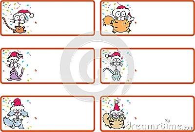 Jingle Cat Christmas Gift Tags Royalty Free Stock Photos