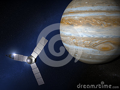 Jupiter And Juno Space Probe Stock Illustration Image 49557265
