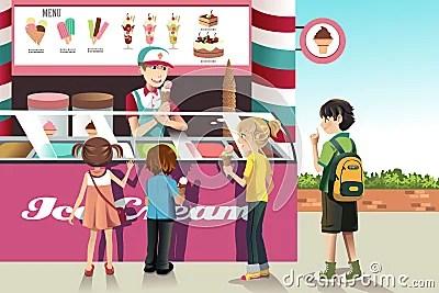 Kids Buying Ice Cream Stock Photos Image 29546943