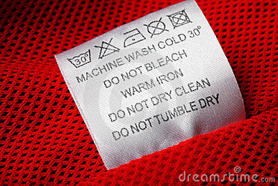 Laundry Care Label On White Background Royalty Free Stock