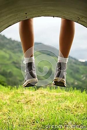 Legs Dangling Royalty Free Stock Photo Image 12009545