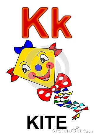 Letter K Kite Royalty Free Stock Image Image 17829186