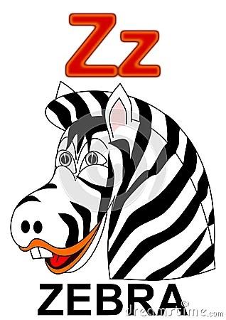 Letter Z Zebra Royalty Free Stock Image Image 17958576