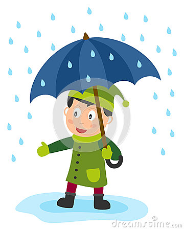 Little Boy With Umbrella Stock Images Image 24997934