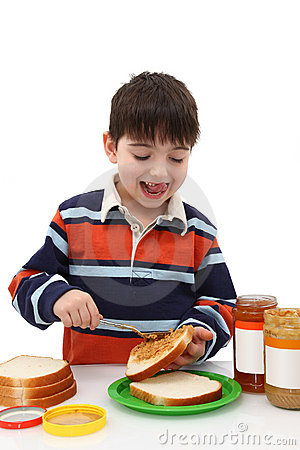 Making Peanut Butter Jelly Sandwich Royalty Free Stock Photography Image 7807507