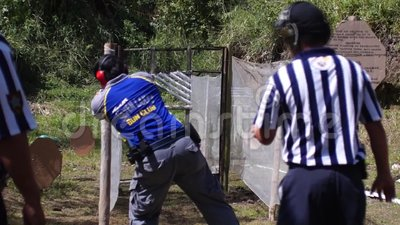 Man Fires Handgun During Practice Training In Practical ...