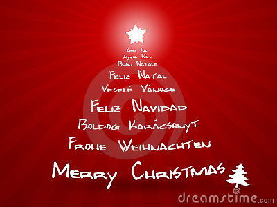 Merry Christmas In Different Languages Royalty Free Stock