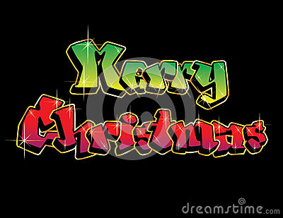Merry Christmas Graffiti Royalty Free Stock Images Image
