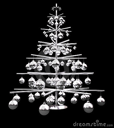 Metallic Christmas Tree Royalty Free Stock Photos Image