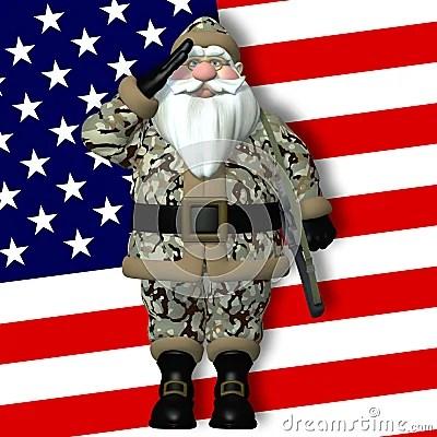 Military Santa Royalty Free Stock Images Image 24650159