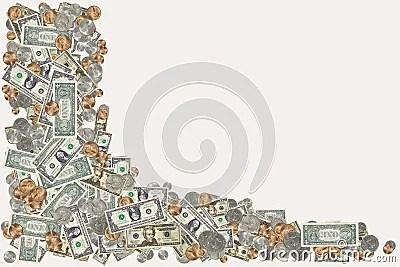 Money Border Royalty Free Stock Photography Image 1282597
