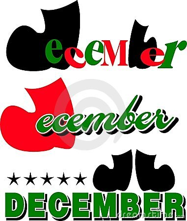 Month Of December Text Royalty Free Stock Image Image