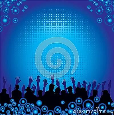 Music Audience Background Royalty Free Stock Photo Image