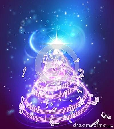 Music Christmas Tree Stock Vector Image 62923784