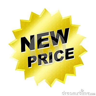 New Price Sign Stock Photos Image 6580973