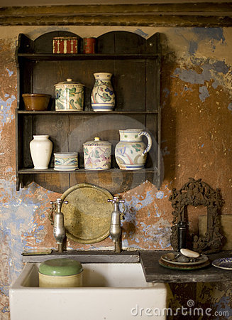 Old Fashioned Kitchen Stock Image Image Of Pottery Residential 6421587