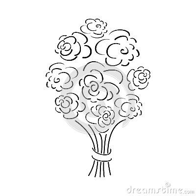 Outline Rose Bouquet Stock Images Image 28527894
