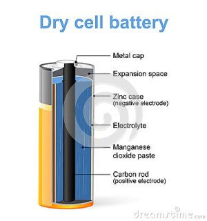 Parts Of A Dry Cell Battery Stock Vector  Image: 76013939