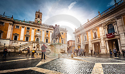 Piazza Del Campidoglio Editorial Photography - Image: 47910237