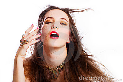 Portrait of beauty young luxury woman