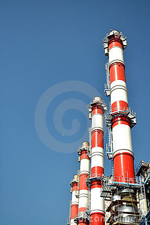 Power Plant Stack Stock Photos Image 21282093