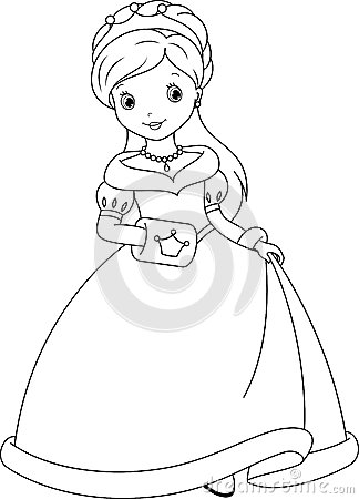 Princess Coloring Page Stock Vector Image 42206765