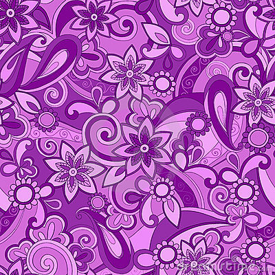 Purple Funky Pucci Seamless Repeat Pattern Royalty Free