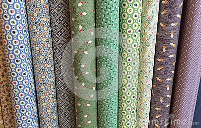 Quilt Fabric Background Stock Photo - Image: 58847143
