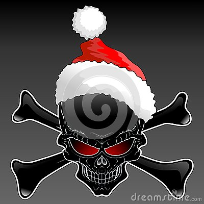Santa Black Skull Stock Photo Image 63387295