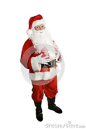 Santa Claus Full Body Isolated Royalty Free Stock Photo