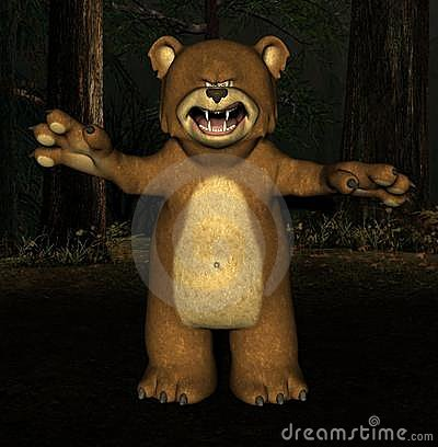 Scary Bear Royalty Free Stock Photography Image 2671677