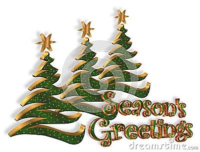 Seasons Greetings Christmas Trees Stock Image Image 6465611