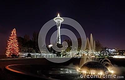 Seattle Center Christmas Lights Stock Photos Image 23436453