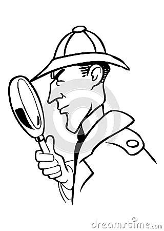 Sherlock Holmes Cartoon Vector Stock Photo Image 14725610