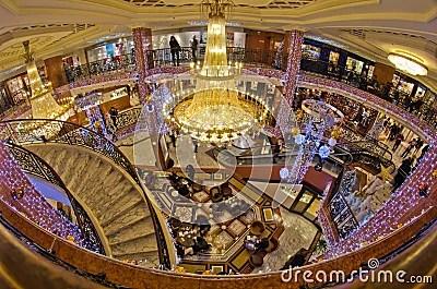 Shopping Mall Interior Monaco France Editorial Photo