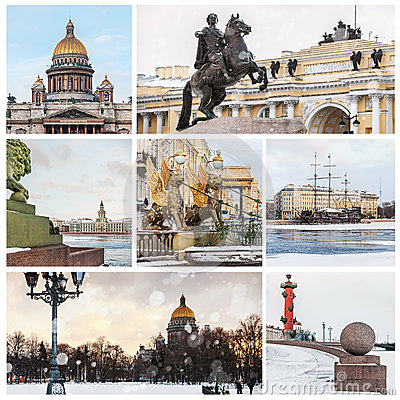 Sights Of St. Petersburg In Winter. Russia Stock Photo ...
