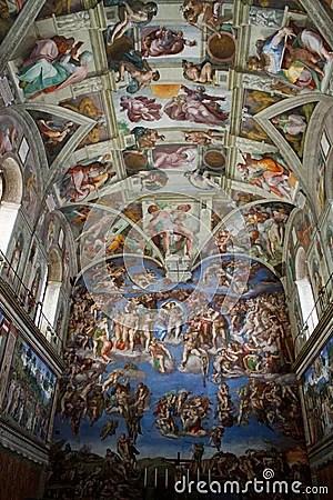 Sistine Chapel Editorial Image Image 13804355