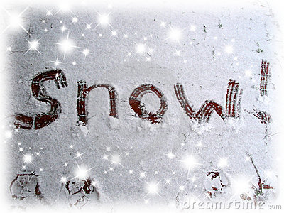 Snow Sign Royalty Free Stock Images Image 298429