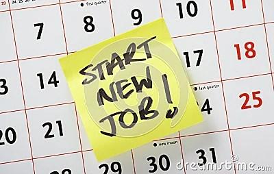 Start New Job!