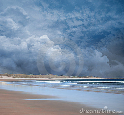 Stormy Beach Scene Royalty Free Stock Image Image 24184936