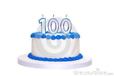 100th Birthday Cake Stock Photo Image 50140841