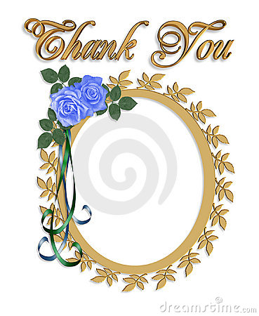Thank You Card With Wedding Frame Stock Photo Image 7850620