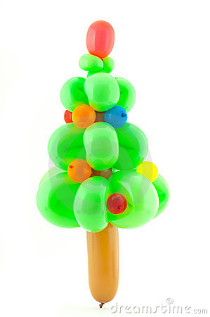 Twisted Balloon Christmas Tree Royalty Free Stock Photos