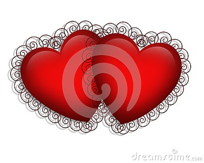 Valentines Day Fancy Hearts Stock Images - Image: 4049054