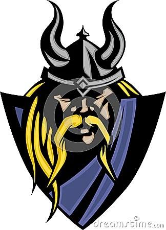 Viking Barbarian Mascot Logo Royalty Free Stock