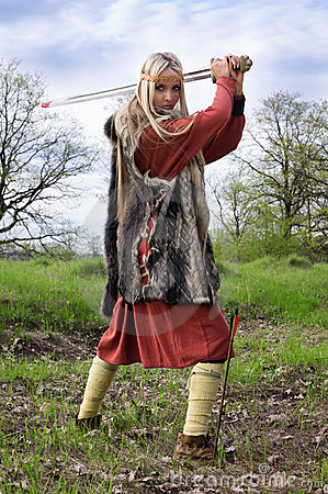 Viking Girl Warrior Stock Photos Image 20233103
