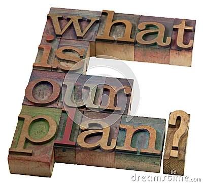 Wat is ons plan?