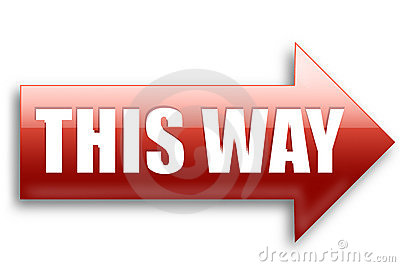 This Way Arrow Royalty Free Stock Images Image 10969089