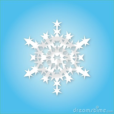 White Snowflake On Blue Background Royalty Free Stock